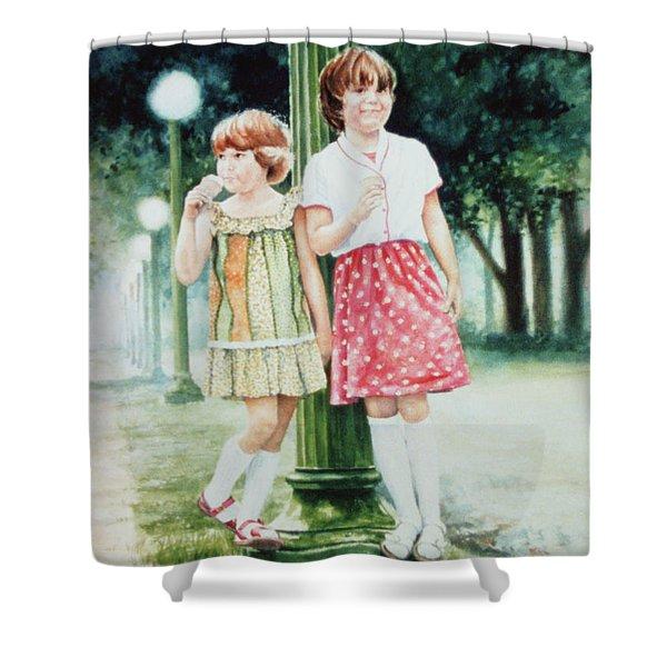 Sunday Treat Shower Curtain by Hanne Lore Koehler