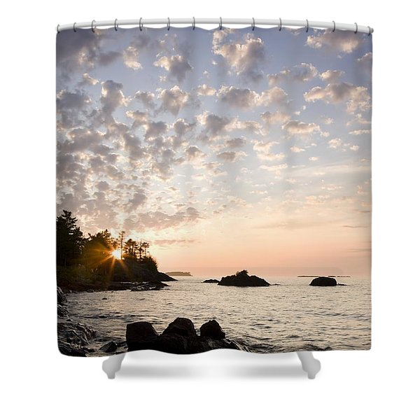 Sunset On The South Shores Of Lake Shower Curtain by Susan Dykstra