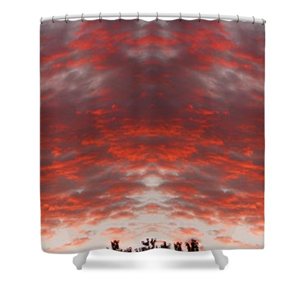 Sunset Panorama Psychedelic Trance Shower Curtain by James BO  Insogna