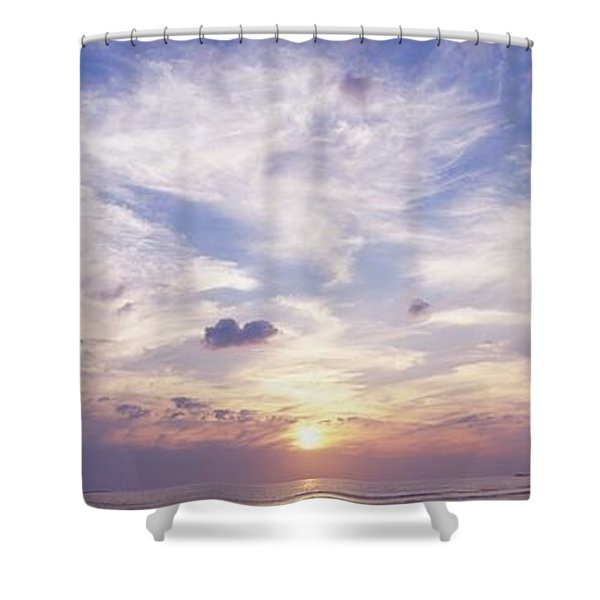 Sunsets Over The Beach, Magheraroarty Shower Curtain by The Irish Image Collection