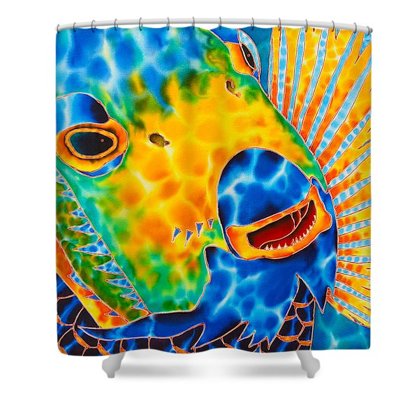 Sunshine Angelfish Shower Curtain by Daniel Jean-Baptiste