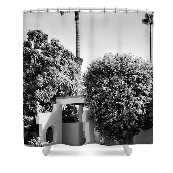 Suntan Lane Palm Springs Shower Curtain by William Dey