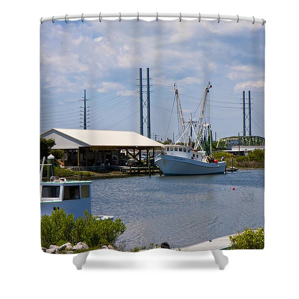 Surf City View Shower Curtain by Betsy C  Knapp