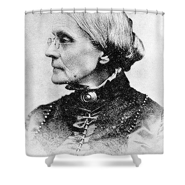 Susan B. Anthony, American Civil Rights Shower Curtain by Photo Researchers, Inc.