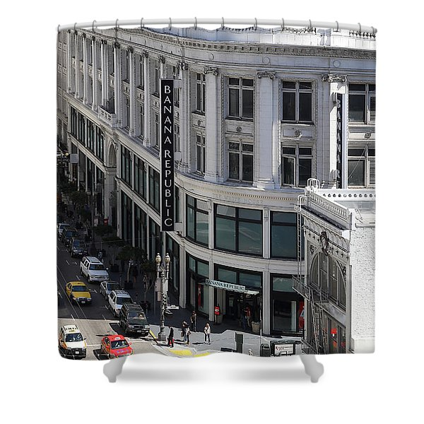 Sutter Street East View Shower Curtain by Wingsdomain Art and Photography