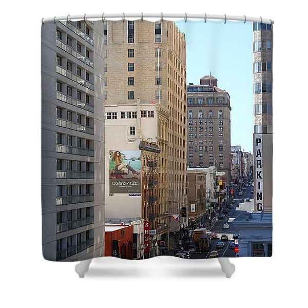 Sutter Street West View Shower Curtain by Wingsdomain Art and Photography