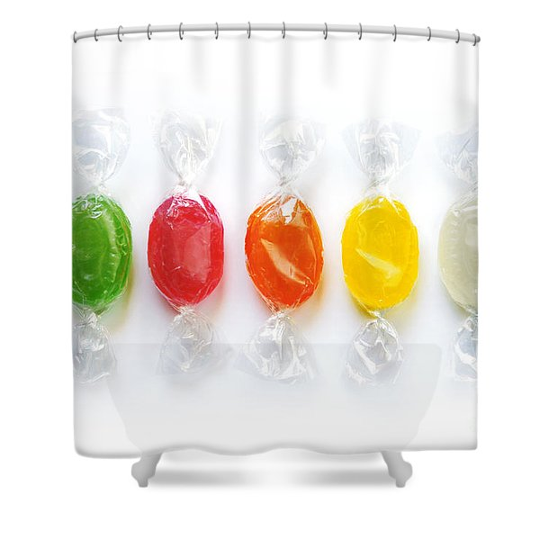 Sweet Candies Shower Curtain by Carlos Caetano