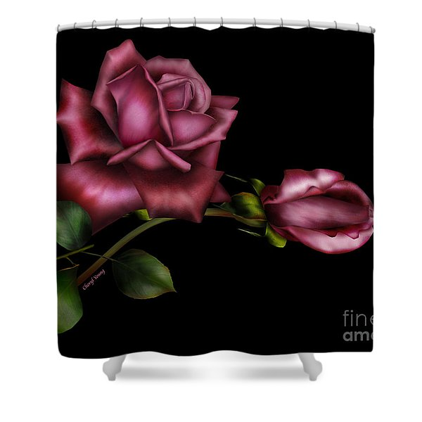 Sweet Perfection Shower Curtain by Cheryl Young