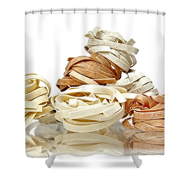 Tagliatelle Shower Curtain by Joana Kruse