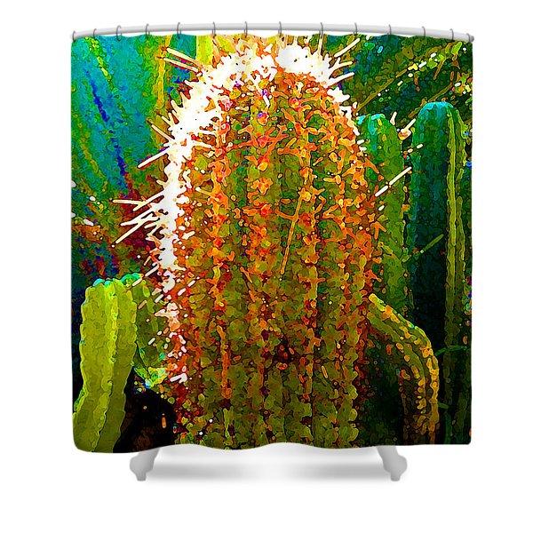 Tall Cactus Shower Curtain by Amy Vangsgard
