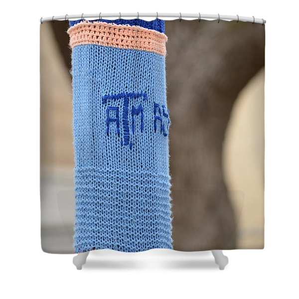 TAMU Astronomy Crocheted Lamppost Shower Curtain by Nikki Marie Smith