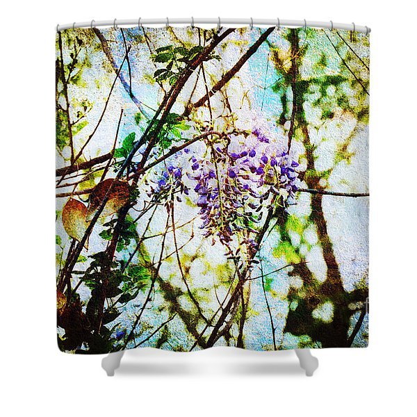 Tangled Wisteria Shower Curtain by Andee Design