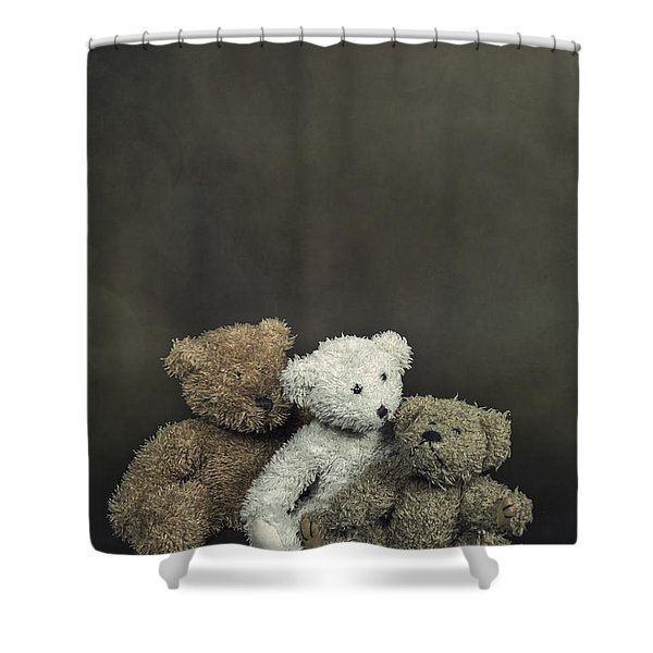 Teddy Bear Family Shower Curtain by Joana Kruse