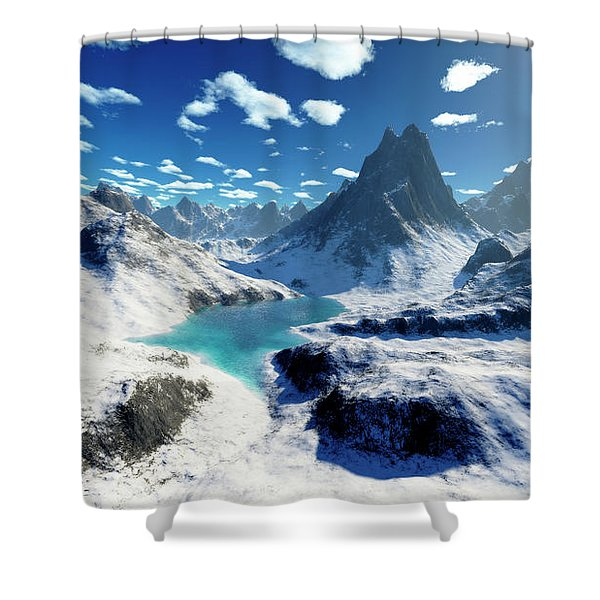 Terragen Render Of An Imaginary Shower Curtain by Rhys Taylor