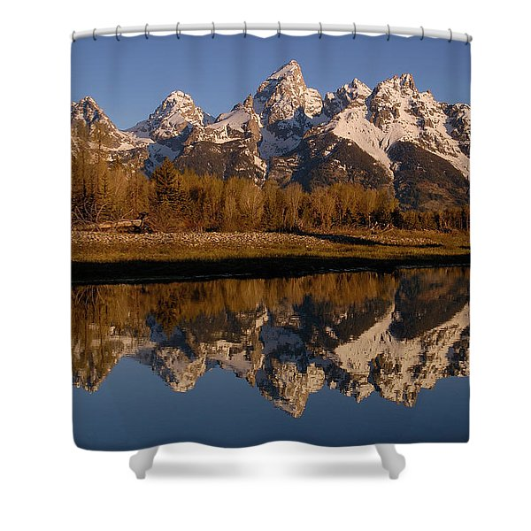Teton Range, Grand Teton National Park Shower Curtain by Pete Oxford
