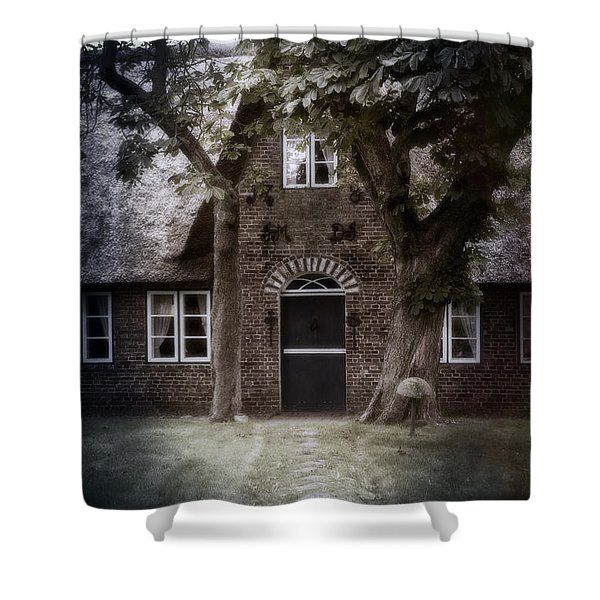 thatch Shower Curtain by Joana Kruse