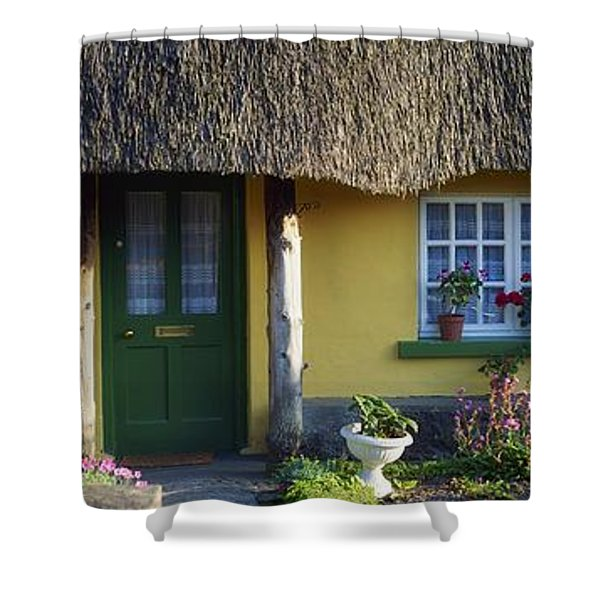 Thatched Cottage, Adare, Co Limerick Shower Curtain by The Irish Image Collection