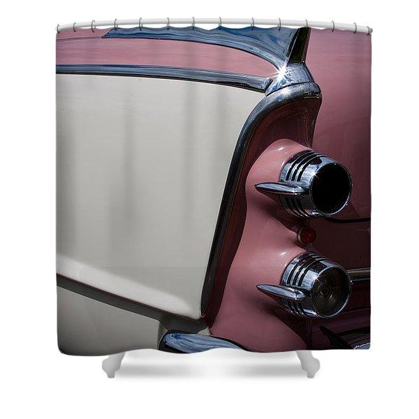 The 1955 Dodge Royal Lancer Sedan Shower Curtain by David Patterson