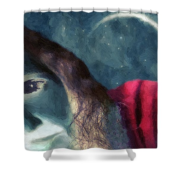 The Agony Of Saint Catherine Shower Curtain by RC DeWinter