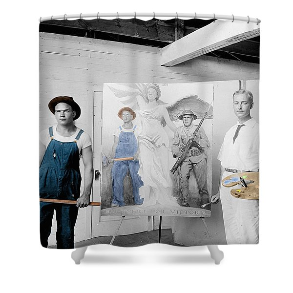 The Artist Shower Curtain by Andrew Fare