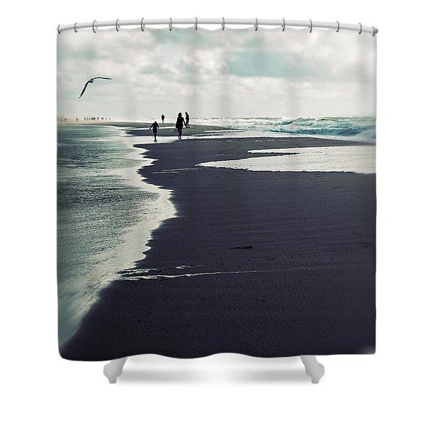 the beach Shower Curtain by Joana Kruse