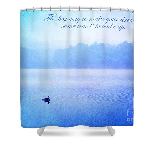The Best Way Shower Curtain by Darren Fisher