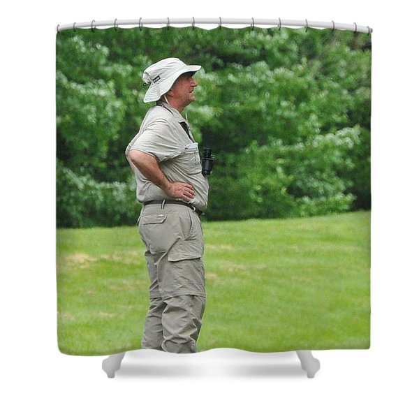The Birdwatcher Shower Curtain by Paul Ward