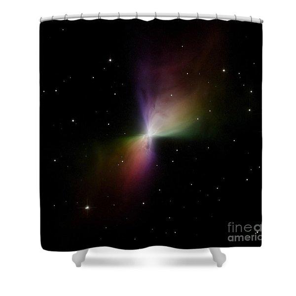 The Boomerang Nebula Shower Curtain by Stocktrek Images