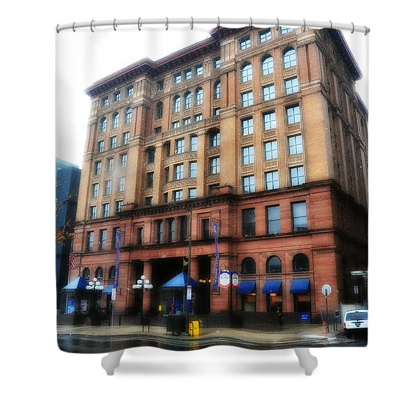 The Bourse Building Philadelphia Shower Curtain by Bill Cannon