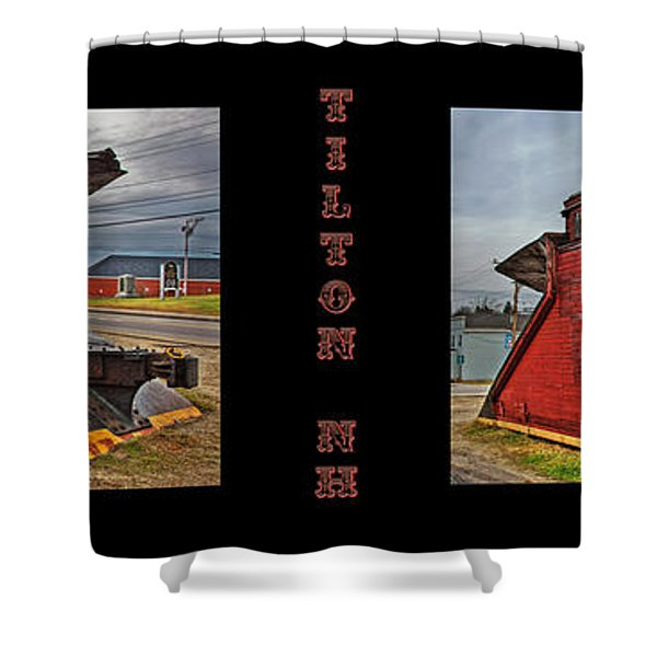 The Caboose Shower Curtain by Joann Vitali