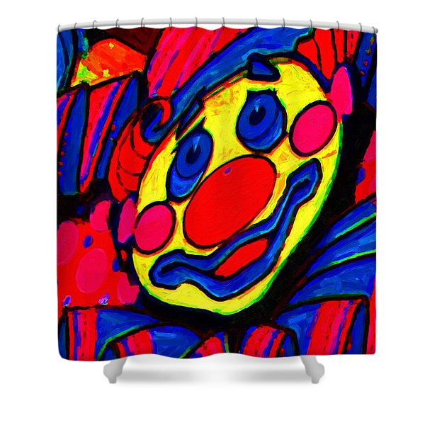 The Circus Circus Clown Shower Curtain by Wingsdomain Art and Photography
