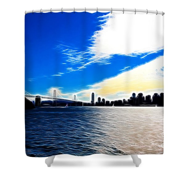 The City By The Bay Shower Curtain by Wingsdomain Art and Photography