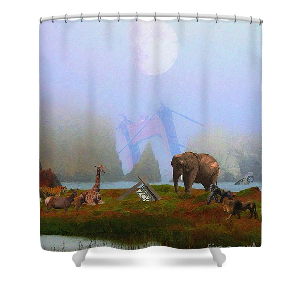 The Day After Armageddon At The San Francisco Zoo Shower Curtain by Wingsdomain Art and Photography