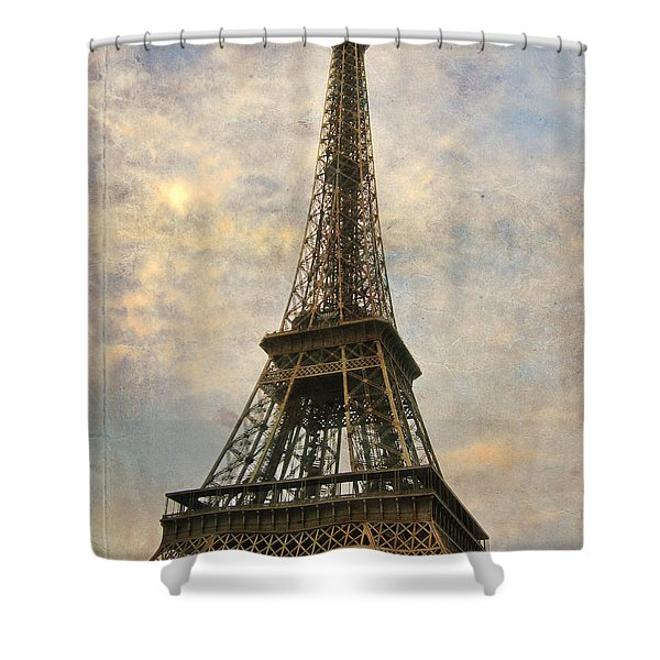 The Eiffel Tower Shower Curtain by Laurie Search