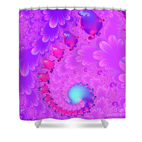 The Enchanted Forest . Version 2 . Square . S8 Shower Curtain by Wingsdomain Art and Photography