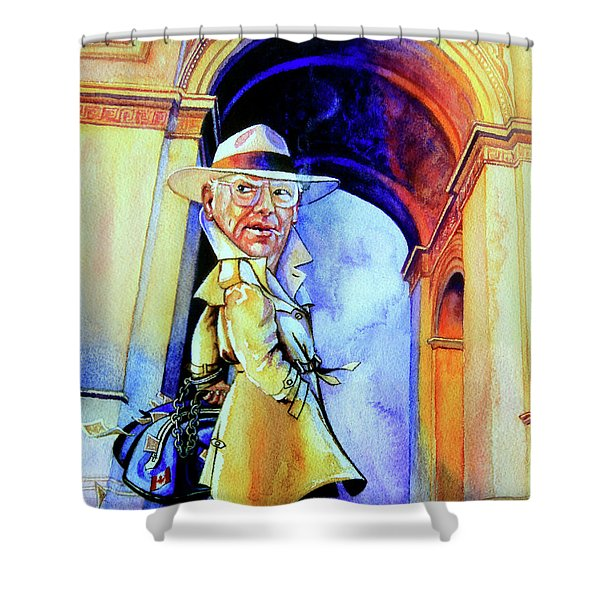 The French Connection Shower Curtain by Hanne Lore Koehler