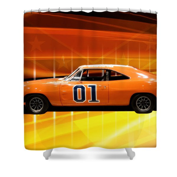 The General Lee Shower Curtain by Joel Witmeyer