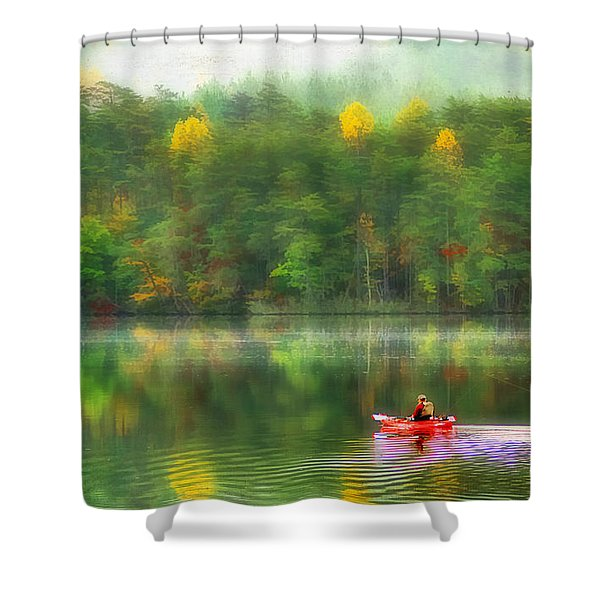 The Good Life Shower Curtain by Darren Fisher