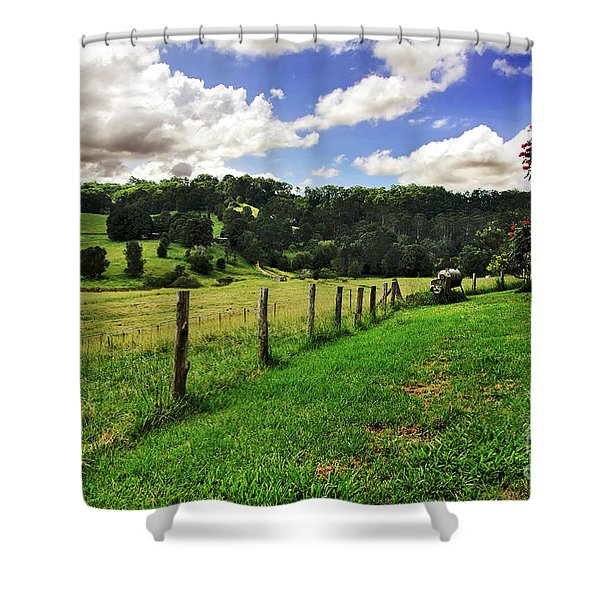 The Green Green Grass of Home Shower Curtain by Kaye Menner
