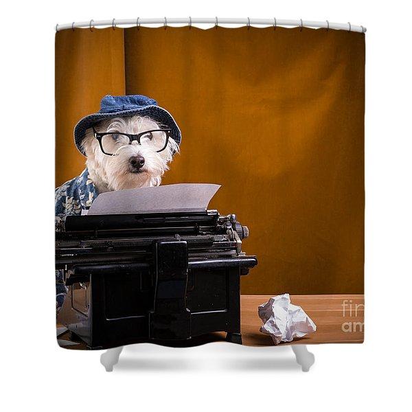 The Hard Boiled Journalist Shower Curtain by Edward Fielding