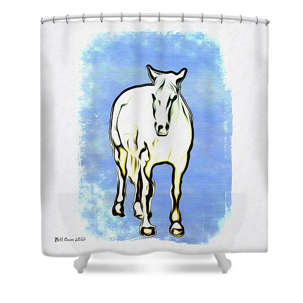 The Horse Shower Curtain by Bill Cannon