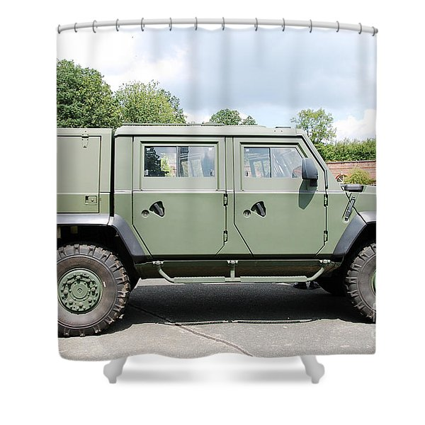 The Iveco Light Mulirole Vehicle Shower Curtain by Luc De Jaeger