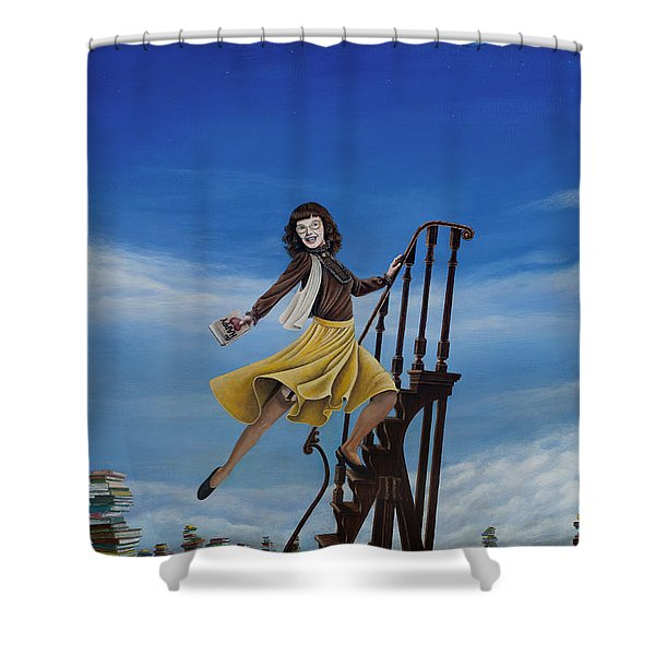 The Journey Of A Librarian Shower Curtain by Cindy D Chinn