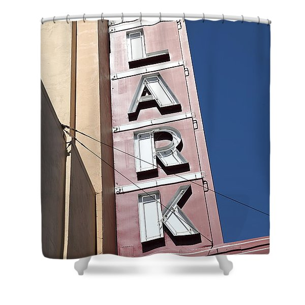 The Lark Theater In Larkspur California - 5d18489 Shower Curtain by Wingsdomain Art and Photography