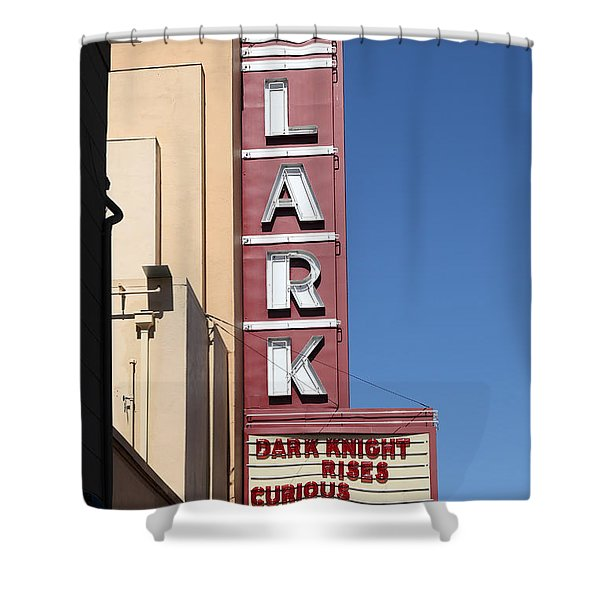 The Lark Theater in Larkspur California - 5D18490 Shower Curtain by Wingsdomain Art and Photography