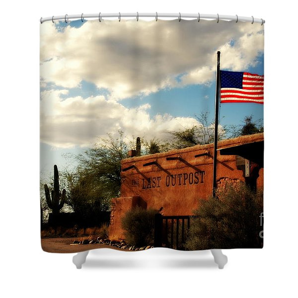 The Last Outpost Old Tuscon Arizona Shower Curtain by Susanne Van Hulst