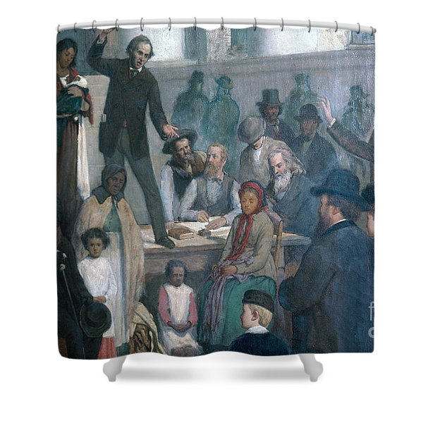 The Last Slave Sale Shower Curtain by Photo Researchers