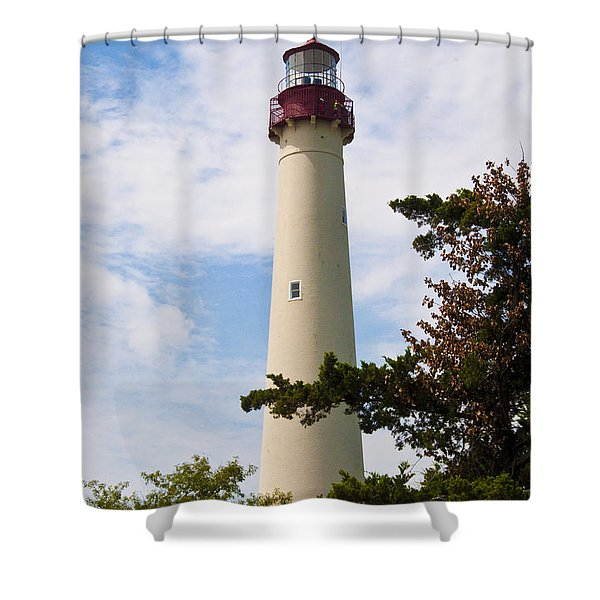 The Lighthouse at Cape May New Jersey Shower Curtain by Bill Cannon