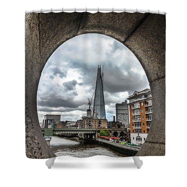 The London Shard Shower Curtain by Dawn OConnor