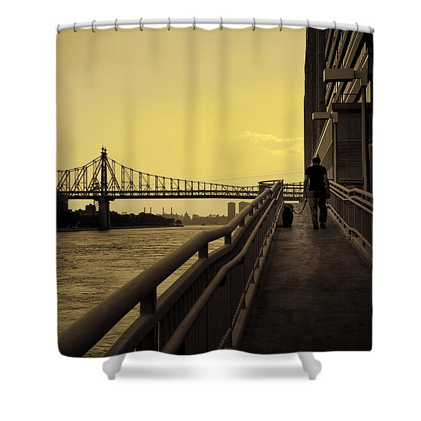 The Long Walk Shower Curtain by Madeline Ellis